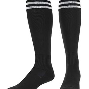 TCK Soccer Socks with Stripes- for Boys or Girls- Men or Women – Extra Cross-Stretch for Shin Guards
