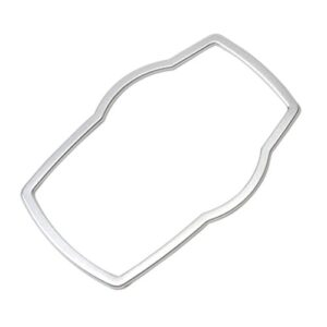 Eastar Car Interior Multimedia Buttons Cover Molding Trim for 1 3 4 5 7 Series X1 X3 X4 X5 X6 2013-2014-Silver