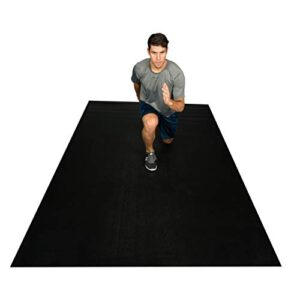 Square36 Extra Large Exercise Mat/Fitness Equipment Mat 10′ X 6′ x 1/4″. Large Home Gym Exercise Mat That Protects Floors. Perfect For Beachbody, TAM, HIIT, PLYO, Zumba. For Use With Or Without Shoes.