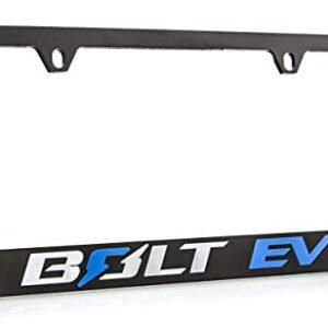 Chevrolet Bolt EV Zinc License Plate Frame with Powder Coated Black Finish