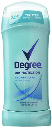 Degree Women Shower Clean Invisible Solid Anti-Perspirant & Deodorant 2.6 oz (Pack of 6)