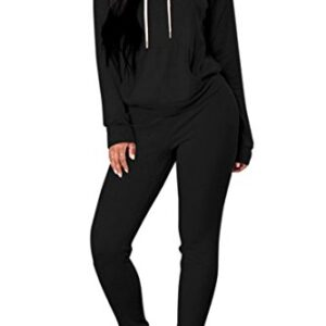 Tie Dye Sweatsuit 2 Pieces for Women Sweatshirt with Hooded Drawstring and Sweatpants Lounge Set Pajamas Casual…