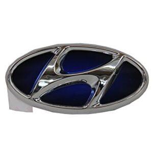 Genuine Hyundai Sonata 86300 4R000 Hybrid Chrome/Blue Front Emblem