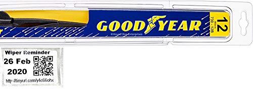 Rear Wiper Blade for 2014-2019 Mitsubishi Outlander & Reminder Sticker (Goodyear Rear) (Hybrid)