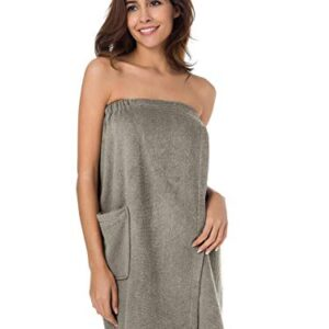SIORO Women's Towel Wrap Bathrobe, Bamboo Cotton Spa Towels Robe with Adjustable Closure, Gym and Shower