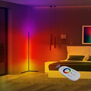 Corner Floor Lamp | Home RGB Mood Lighting for Living Room Bedroom Ambient Color Changing Light with Remote , Minimalist…