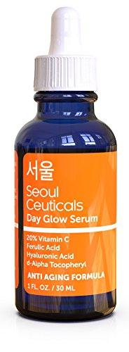 Korean Skin Care K Beauty – 20% Vitamin C Hyaluronic Acid Serum + CE Ferulic Acid Provides Potent Anti Aging, Anti…
