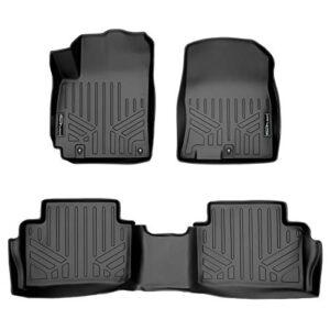 MAXLINER Custom Fit Floor Mats 2 Row Liner Set Black Compatible with 2018-2022 Hyundai Kona (No Electric Models)