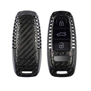 M.JVisun Genuine Carbon Fiber Key Fob Cover for Audi A3 A6 A7 A8 A8L E-Tron Q7 Q8 RS6 RS7 S3 S6 S7 SQ7 SQ8 Smart Car…
