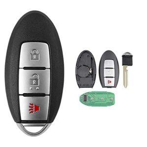 Car Key Fob Keyless Entry Remote Fit for Nissan Leaf 2011-2015 /Quest 2011-2017 / Juke 2011-2017 / Cube 2010-2014/Vera…