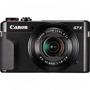 Canon PowerShot Digital Camera [G7 X Mark II] with Wi-Fi & NFC, LCD Screen, and 1-Inch Sensor – Black, 100 – 1066C001