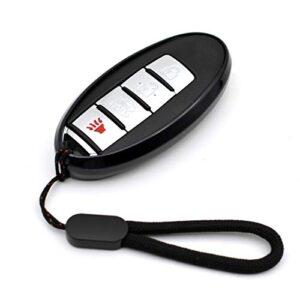 Compatible with Nissan 370Z Altima Armada Maxima Murano Rogue Leaf Pathfinder Infiniti G25 Q50 QX60 QX80 Black TPU Key…