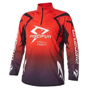 Piscifun T-Shirt for Men, Long Sleeve UPF Fishing T-Shirt, Sun Protection Fishing Jersey M L XL 2XL 3XL