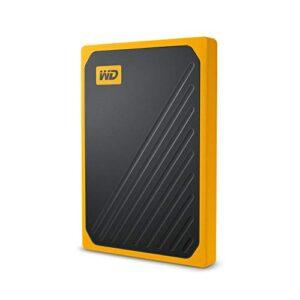 WD 500GB My Passport Go SSD Amber Portable External Storage, USB 3.0 – WDBMCG5000AYT-WESN