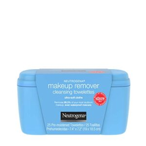 Neutrogena Makeup Remover Facial Cleansing Towelettes, Daily Face Wipes to Remove Dirt, Oil, Makeup & Waterproof Mascara…