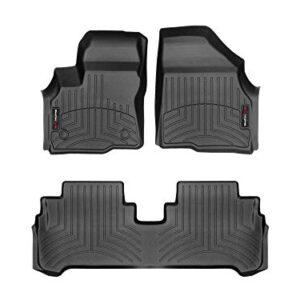 WeatherTech Custom Fit FloorLiner for Chevrolet Bolt EV – 1st & 2nd Row (Black)