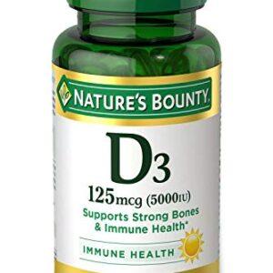 Vitamin D3 by Nature's Bounty for Immune Support. Vitamin D Provides Immune Support and Promotes Healthy Bones