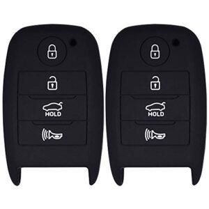 Lcyam Silicone Remote Key Fob Cover Smooth Soft Rubber Case 4 Button for 2017 2019 Kia Niro EX 2015 Kia Sorent