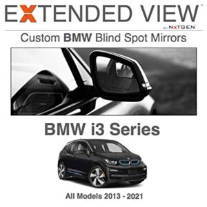 Blind Spot Mirrors- Compatible with BMW i3 (All Models) Extended View