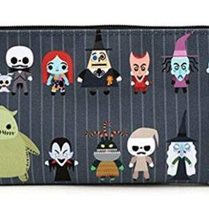 Loungefly x Nightmare Before Christmas Chibi Characters Zippered Pouch