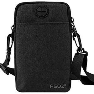 Agoz Crossbody Cell Phone Purse Wallet Sling Bag Shoulder Strap for Apple iPhone
