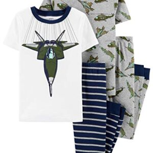 Carter's Boys' 4-Piece Snug Fit Cotton Pajama PJs