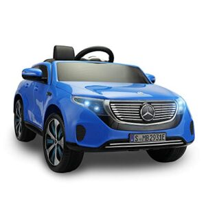 TOBBI Mercedes-Benz EQC Officially Licensed Ride-On Children's Toy Car with Double Electric Motors and Shock-Absorbing…