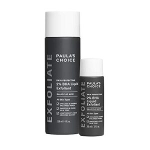 Paula's Choice Skin Perfecting 2% BHA Liquid Salicylic Acid Exfoliant Duo, Gentle Exfoliator for Blackheads, Large Pores…