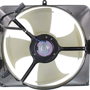 Evan-Fischer A/C Condenser Fan Assembly for Honda Accord 03-07 Right 6Cyl Coupe/Sedan Except Hybrid