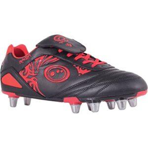 Optimum Razor Rugby Boots – Black/Red