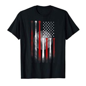 American Flag Vintage Baseball Flag T-Shirt, Dad, Mom Tee T-Shirt