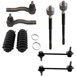 Detroit Axle – Front Sway Bars End Links Inner & Outer Tie Rod Ends w/Rack Boots Replacement for Ford Fusion 2.5L 3.0L…