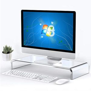 Acrylic Computer Monitor Stand Riser Acrylic Monitor Stand Riser Clear Monitor Stand or Holder Acrylic Laptop Stand…