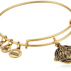 Alex and Ani Divine Guides Expandable Bangle Bracelet for Women, Jesus Engraved Charm, Rafaelian Finish, 2 to 3.5 in