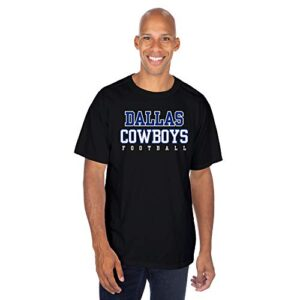 Dallas Cowboys NFL Mens Practice T-Shirt, Black, Large
