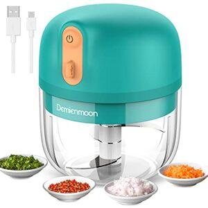 Electric Mini Garlic Chopper, Demienmoon Cordless Mini Food Chopper, Mini Food Processor Small Vegetable Mincer with USB…