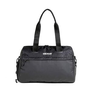 Vooray Trainer Duffel, Water-Resistant Gym Bag with Shoe Compartment and Wet-Gear Pocket 24L (Cheetah)