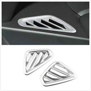 Autonemaker for Hyundai Kona 2018-2020 Interior Front Air Vent Outlet Arir Condition Cover Trim 2PCS (Air Vent Outlet)