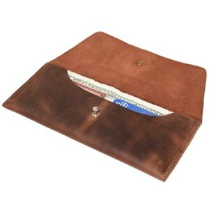 Hide & Drink, Leather Utility Pouch / Wallet / Accessories / Cover / Travel Gear / Hand Bag, Handmade Includes 101 Year…