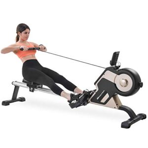 Merax Rowing Machine Indoor Home Rower Magnetic Rowing Machine with Magnetic Tension System, LED Monitor and 8-Level…