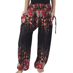 Lannaclothesdesign Harem Hippie Pants for Women Yoga Boho Long Beach Summer Clothing PJ