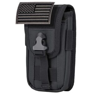 IronSeals Tactical Cell Phone Holster Pouch, Tactical Smartphone Pouches EDC Cellphone Case Utility Gadget Bag Molle…