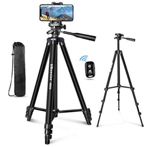"""UBeesize 60"""" Phone Tripod with Carry Bag & Cell Phone Mount Holder for Live Streaming, Extendable Travel Lightweight…"""