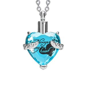 Smartchoice Cremation Jewelry For Ashes Urn Necklace Heart Pendant With Beautiful Presentation Gift Box With Stainless…