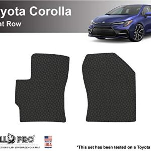 YelloPro Auto Custom fit Heavy Duty Car Front Row Floor Mat Accessories for 2020 2021 Toyota Corolla Sedan, Corolla…