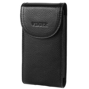 VIIGER Genuine Leather Phone Case Belt Clip Holster Belt Pouch Holder Cellphone Belt Case Smartphone Belt Loop Pouch Bag…