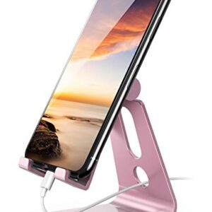 Adjustable Cell Phone Stand – Lamicall Phone Desk Holder, Cradle, Dock, Compatible with iPhone 12 Mini 11 Pro Xs Max XR…