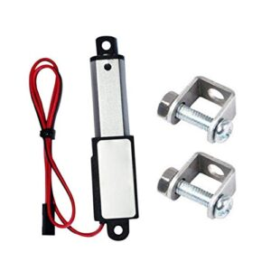 Micro Linear Actuator Mini Electric Waterproof with Mounting Brackets 12V 60N Stroke Length 30mm Speed 15mm