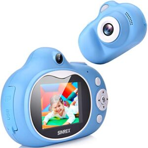 Simrex Kids Camera, Mini Children Digital Camera for Kids Video Camcorder Shockproof Toys with 2.0″ IPS HD Screen, Bluetooth Speaker Gift for Child Included 32GB TF Cards