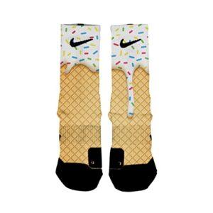 HoopSwagg Ice Cream Custom Elite Socks